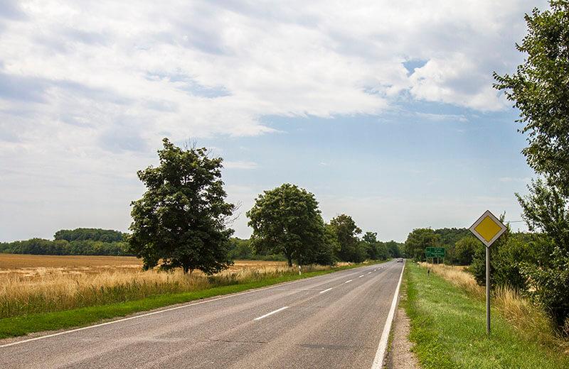 Landsväg i närheten av Balatonsjön