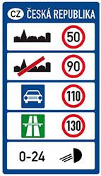 Hastighetsskylt Tjeckien