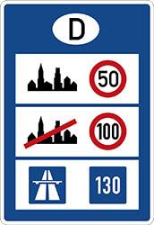 Hastighetsskylt Tyskland