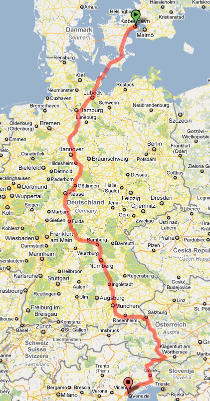 bila i europa karta Bila till Venedig och Trieste i nordöstra Italien | Bilsemester.net bila i europa karta